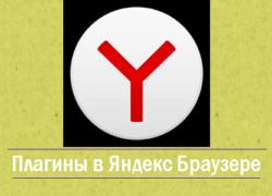 Плагины в Яндекс браузере - browser plugins